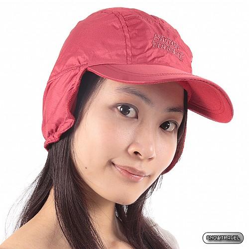 [SNOW TRAVEL] 格紋雙層設計防風遮耳棒球帽 3頂(酒紅色)