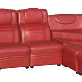 AS-莉卡半牛皮中椅沙發-52x83x88cm