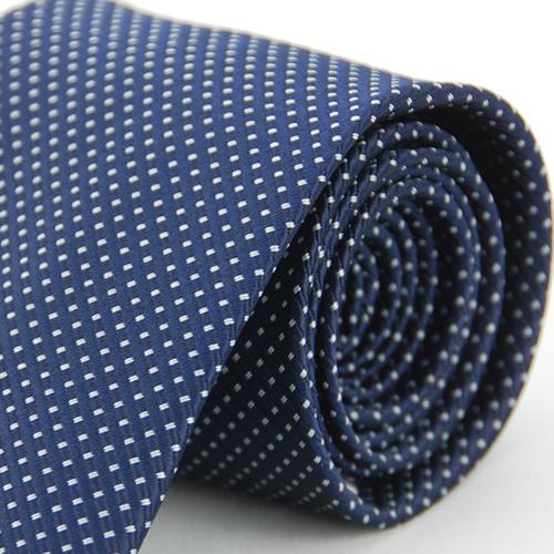 【Alpaca雅派】深藍底白雙點領帶