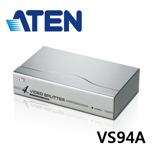 ATEN VS94A 4埠VGA視訊分配器 (頻寬350MHz)