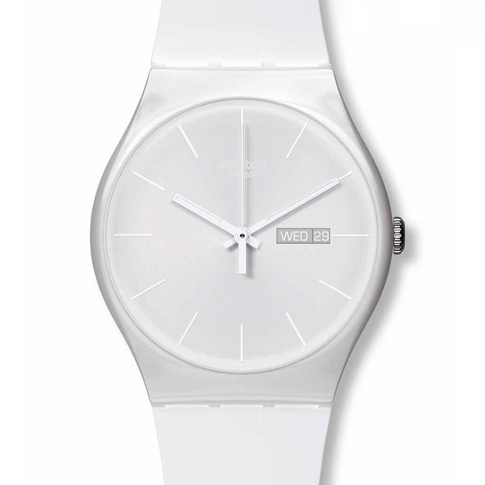 SWATCH  純潔反叛 完美純白腕錶  SUOW701