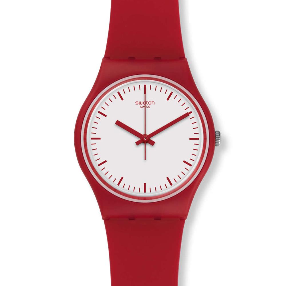 SWATCH  彭塔羅莎 強烈熱情紅白輕盈腕錶 GR172