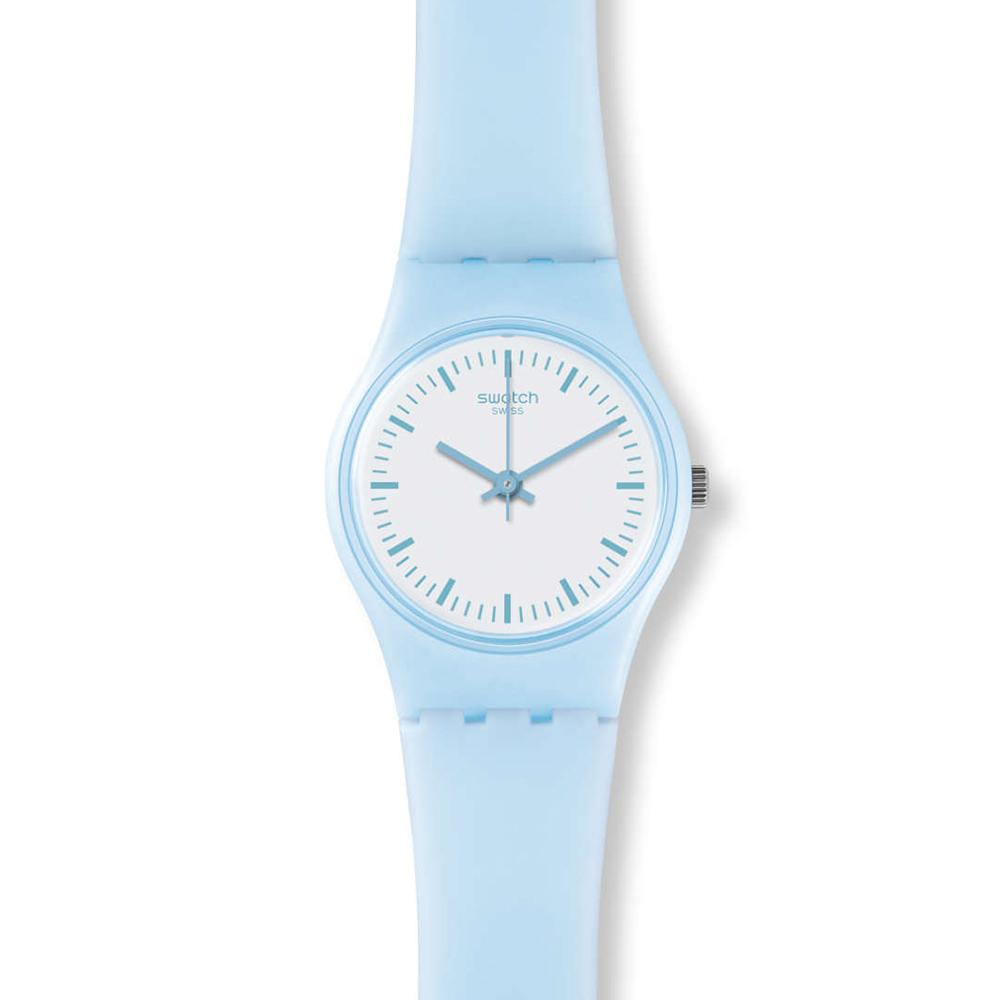 SWATCH  澄澈晴空 藍天白雲迷你腕錶  LL119