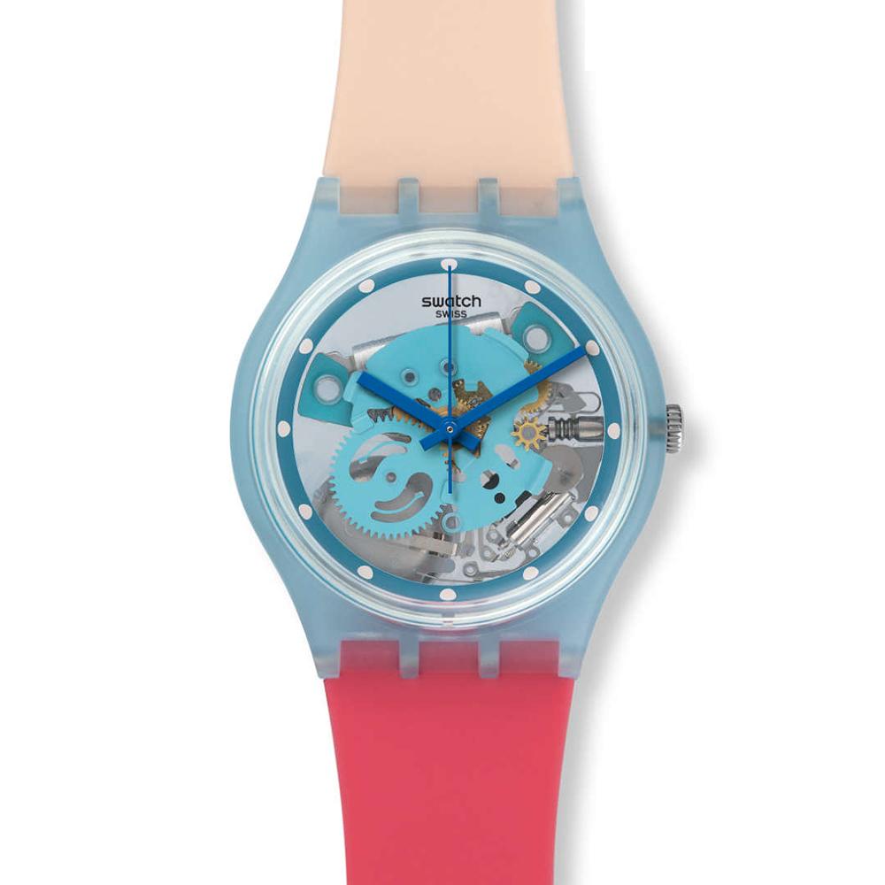 SWATCH  柔美繽紛透視腕錶 GL118