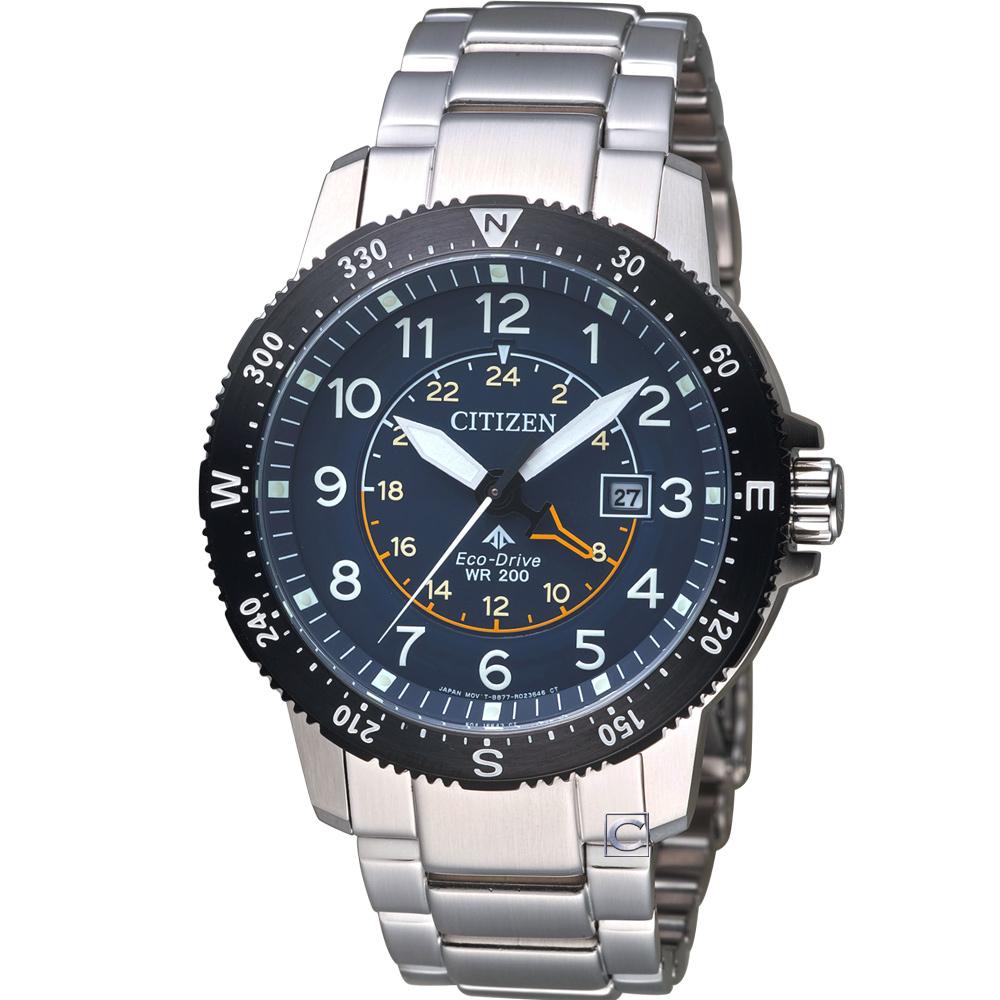 CITIZEN 星辰 PROMASTER 前瞻領向光動能腕錶  BJ7094-59L 藍