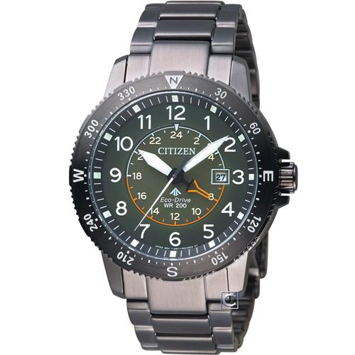 CITIZEN星辰PROMASTER前瞻領向光動能腕錶 BJ7095-56X 綠