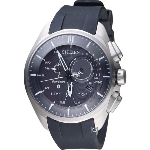 CITIZEN 星辰 藍芽光動能時尚限量鈦金屬腕錶  BZ1040-09E