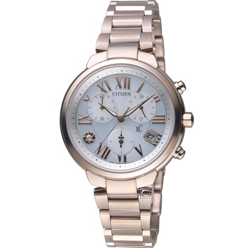 CITIZEN xC系列 花樣時尚光動能鈦金屬腕錶 FB1334-62A