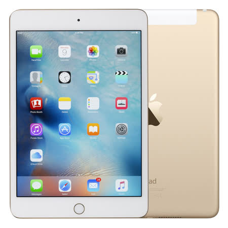 【福利品】Apple iPad mini 4 16G Wi-Fi + Cellular 4G LTE版平板电脑 - 金色