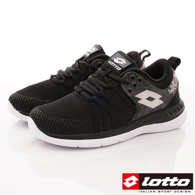 Lotto義大利運動鞋-花漾雙密度跑鞋-WR6820黑-22.5-25cm