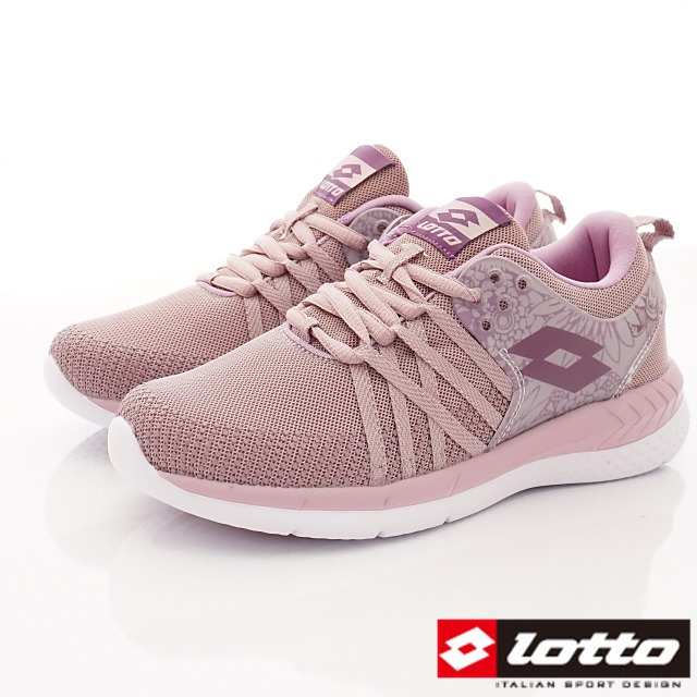 Lotto義大利運動鞋-花漾雙密度跑鞋-WR6827藕紫-22.5-25cm