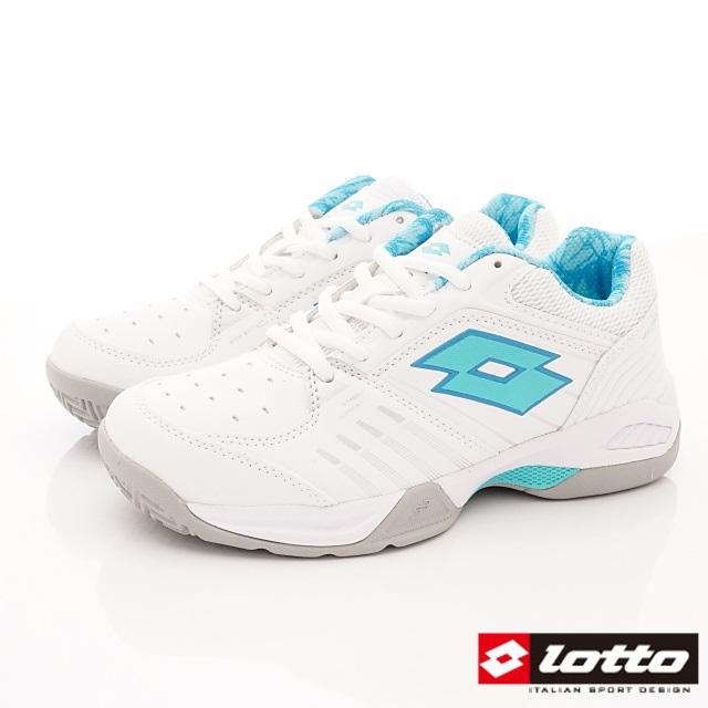 Lotto義大利運動鞋-流線網球鞋-WT6815白松石綠-23-25.5cm
