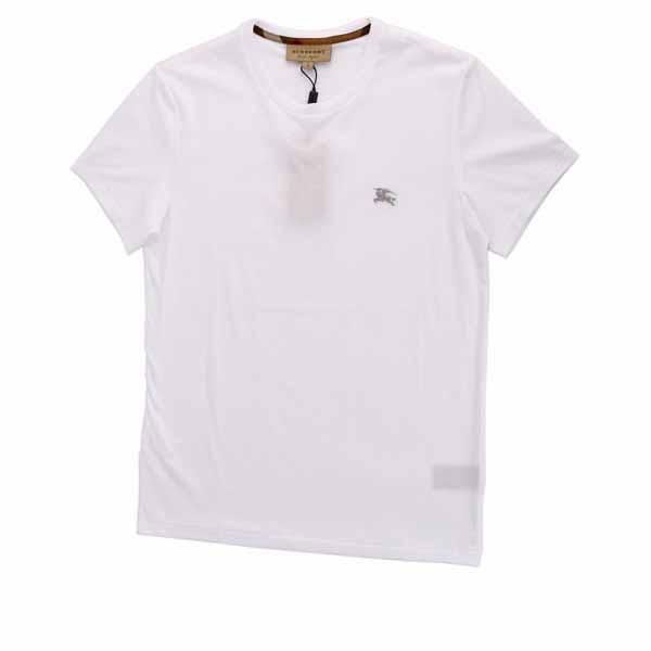 【BURBERRY】戰馬LOGO平織圓領T-shirt(白色)