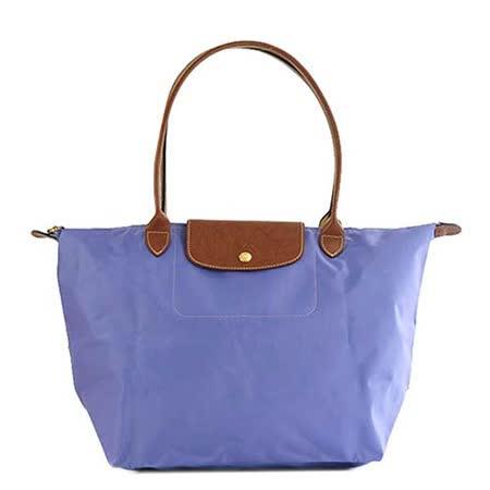 Longchamp 經典高彩度可摺疊水餃包_長把/大/薰衣紫