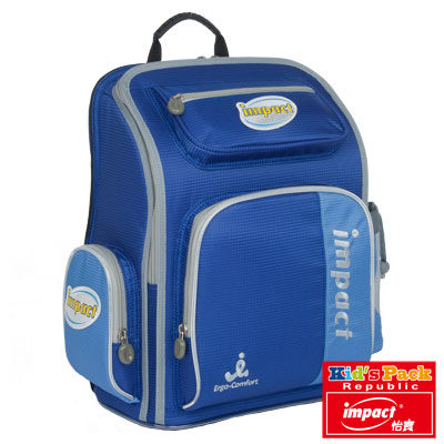 IMPACT怡寶 護脊書包-小天使系列(小尺寸)-寶藍 IM0050ARB《超值5件組》