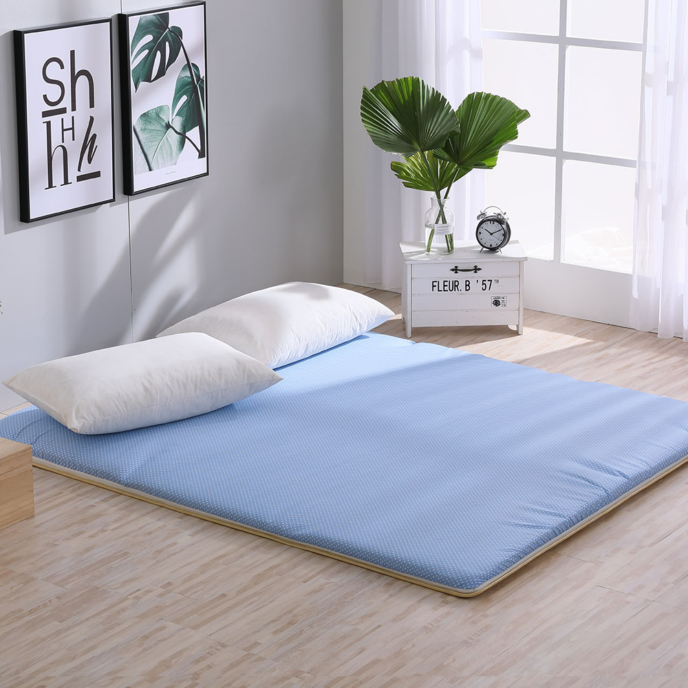 LAMINA 雙竹兩用透氣床墊-水玉點點-藍(雙人)