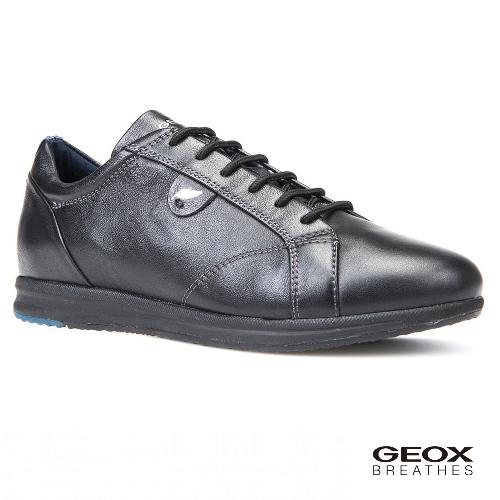 GEOX - D AVERY B  義大利休閒鞋  牛皮 黑色(D44H5B000439997)