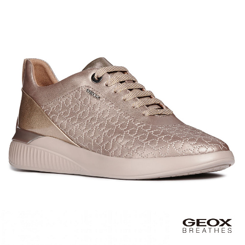 GEOX - D THERAGON C 義大利透氣鞋 休閒運動鞋 漆皮 香檳色(D828SC0NFHIB500)