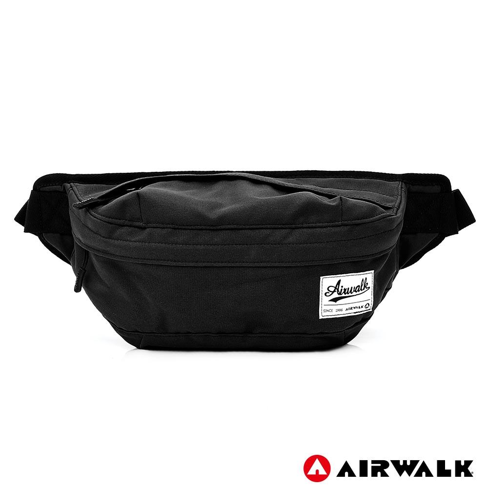 AIRWALK - 都會輕騎休閒側背包-黑色
