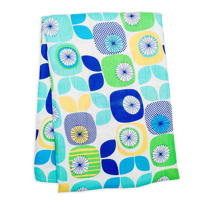 加拿大lulujo竹纖涼感嬰兒包巾-繽紛水果