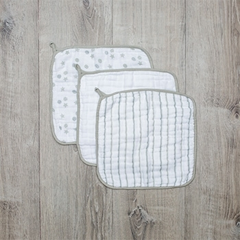 加拿大lulujo洗澡小方巾(3入)-灰