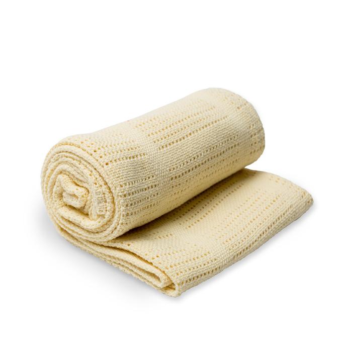加拿大lulujo透氣涼感洞洞毯/保暖毯-粉黃