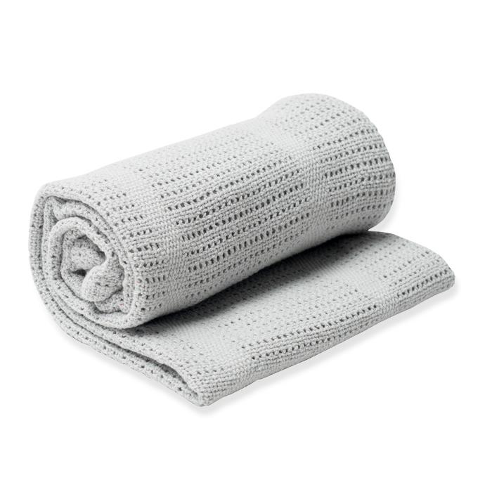 加拿大lulujo透氣涼感洞洞毯/保暖毯-淺灰