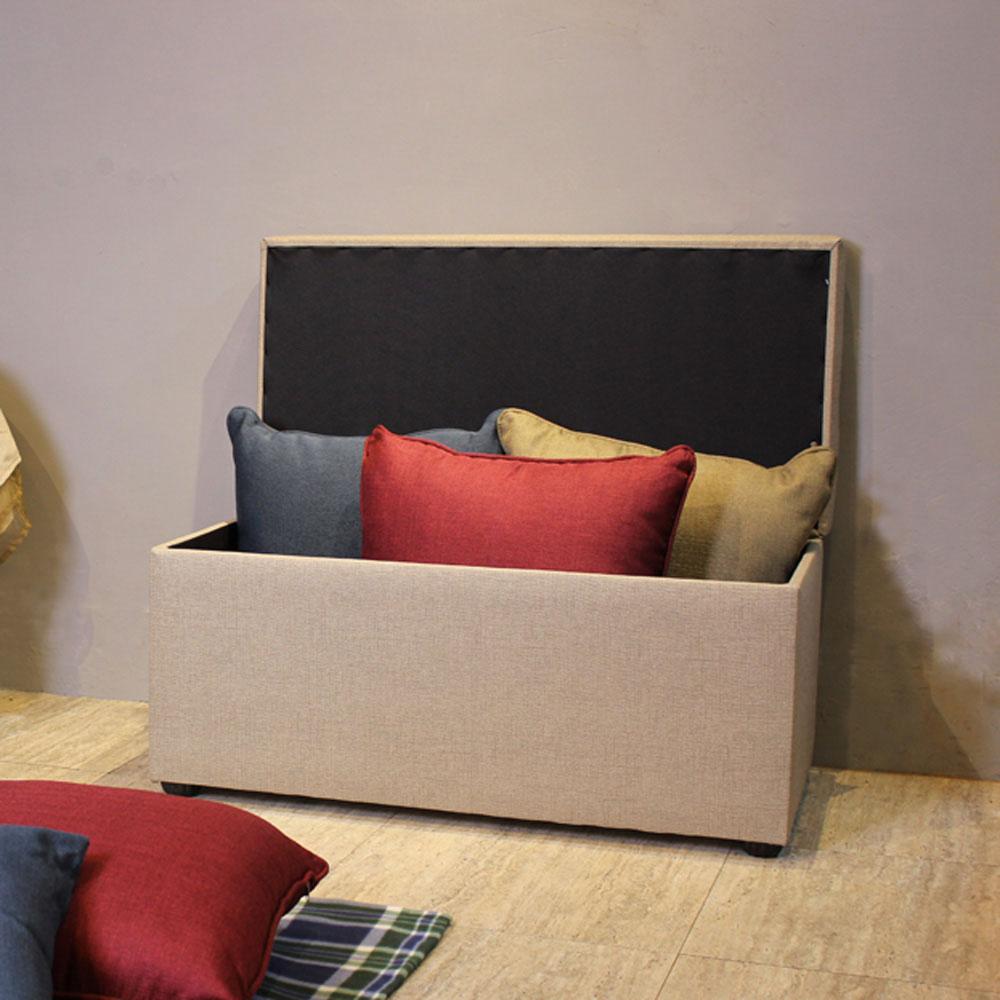 【Asllie】貝琪掀蓋收納長椅/腳凳/床前椅/沙發椅凳(貓抓皮)-灰色