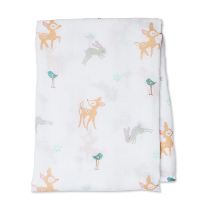 加拿大lulujo嬰兒包巾-小鹿