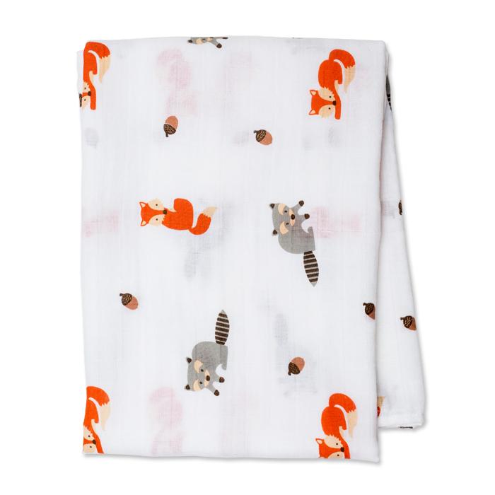 加拿大lulujo嬰兒包巾-森林動物