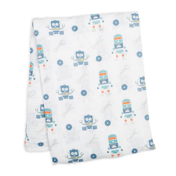 加拿大lulujo嬰兒包巾-機器人