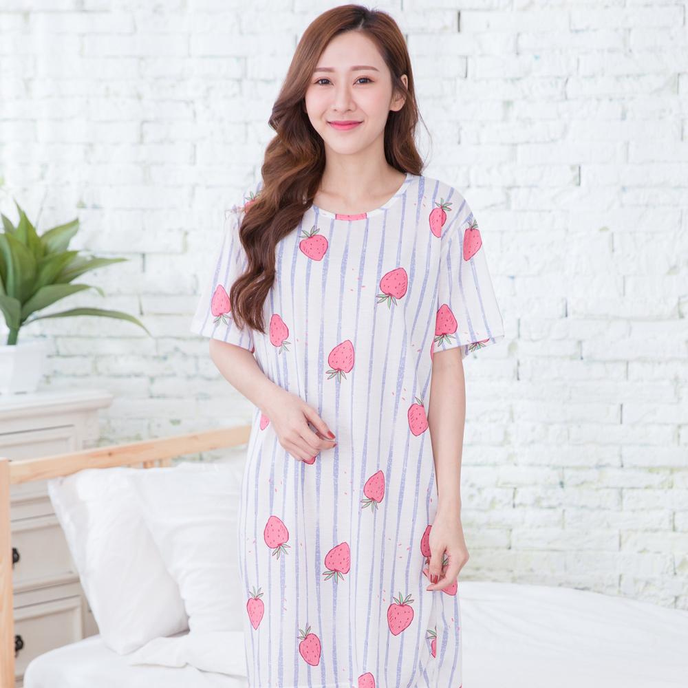 【Wonderland】輕甜夏日100%針織棉居家休閒洋裝