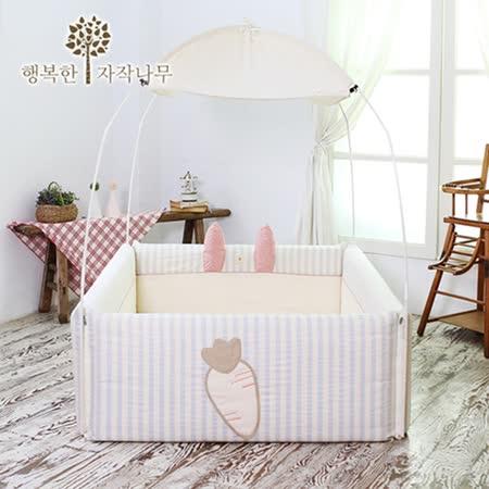 【BabyTiger虎兒寶】The zazak 韓國手工製嬰幼兒遊戲床 兔子