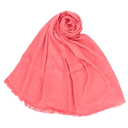 Calvin Klein  素面LOGO絲質薄圍巾