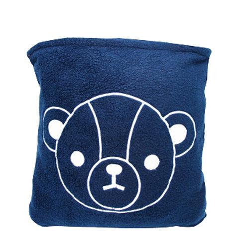 英國熊  二用抱枕四季毯超值2入