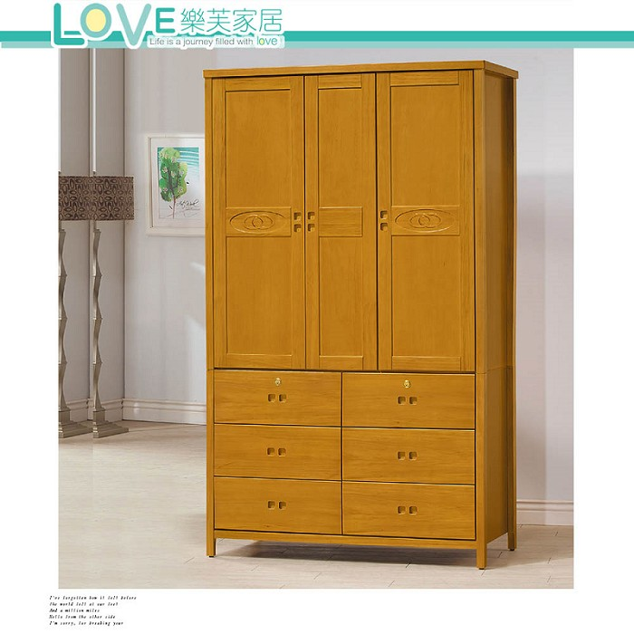 【LOVE 樂芙】香杉美檜4x7尺衣櫥(118)(含內鏡)