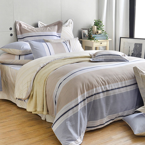 英國Abelia 《米蘭之約》特大純棉五件式被套床罩組