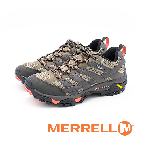 MERRELL (女)MOAB 2 GORE-TEX®HIKING郊山健行鞋 女鞋-橘(另有綠、藍)