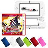 【3DS】任天堂 NEW 3DS LL 日規主機+神奇寶貝/精靈寶可夢 終極紅寶石(贈:硬殼包+傳輸充電線+螢幕保護貼)