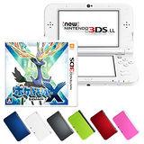 【3DS】任天堂 NEW 3DS LL 日規主機+神奇寶貝/精靈寶可夢X(贈:副廠變壓器+保護貼)