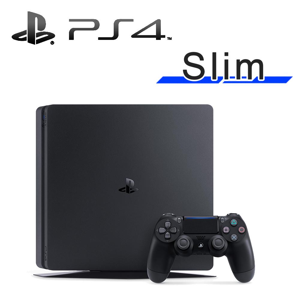 SONY PS4 Slim 500G (CUH-2017) 主機 (台灣公司貨) 極致黑《限量加贈:副廠雙手把充電座》