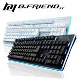 B.Friend GK3 7彩發光 類機械式電競鍵盤 -黑/白2色