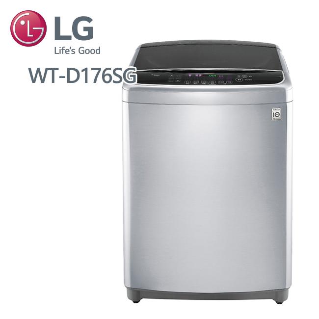 LG樂金6MOTION DD直立式變頻洗衣機 典雅銀 / 17公斤洗衣容量 (WT-D176SG) 含基本安裝+好禮3選1