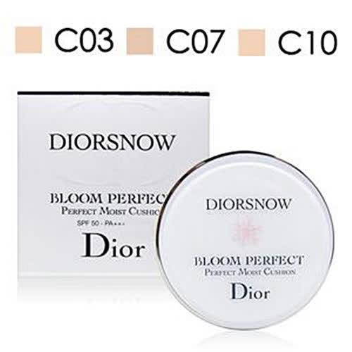Dior迪奧 雪晶靈光感氣墊粉餅組15gx2入 #C07象牙色