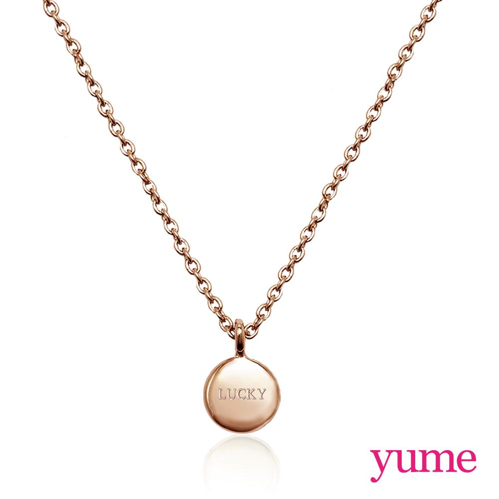 【YUME】Girls 閨蜜系列 - 祈願小圓牌項鍊(玫瑰金)