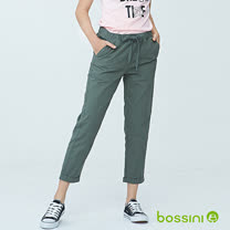 bossini女裝-輕鬆長褲01橄欖灰(品特)