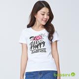bossini女裝-印花短袖T恤06白