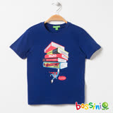bossini男童-印花短袖T恤05皇家藍