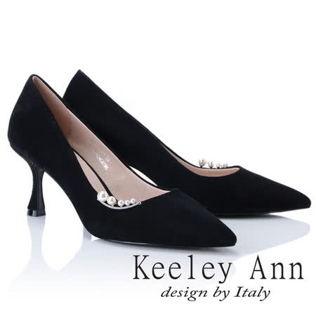 Keeley Ann 全真皮尖頭中跟鞋
