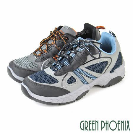 GREEN PHOENIX 男 綁帶厚底休閒運動鞋